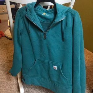 Carharrt turquoise pullover